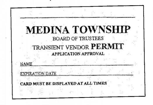 transient vendor permit